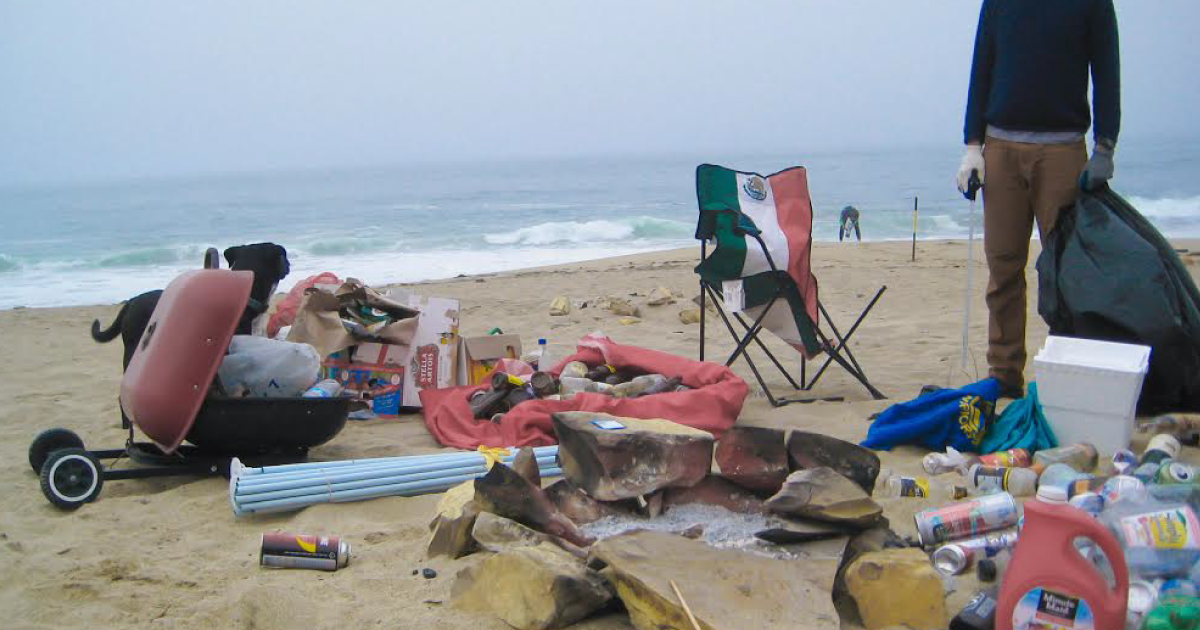 Davenport beach cleanup